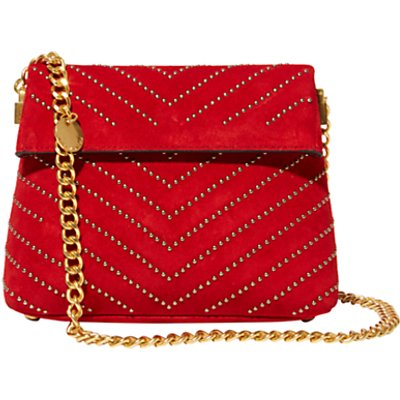 Karen Millen Leather Stud Mini Regent Shoulder Bag  Red - 5054236216464