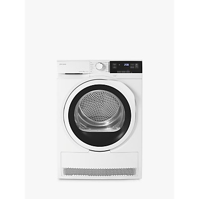 John Lewis & Partners JLTDH23 Heat Pump Tumble Dryer, 8kg Load, A++ Energy Rating, White