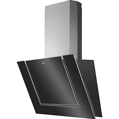 7332543538201 | AEG DVB3850B Angled Chimney Cooker Hood  Black Gloss