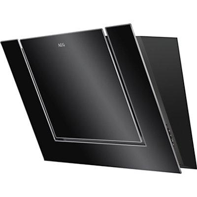 AEG DVB3850B Angled Chimney Cooker Hood  Black Gloss - 7332543538201