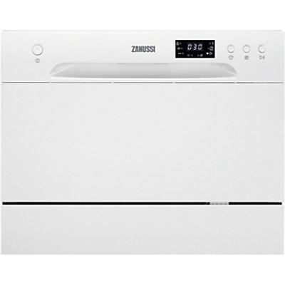Zanussi ZDM17301WA Compact Freestanding Dishwasher  White - 7332543445639