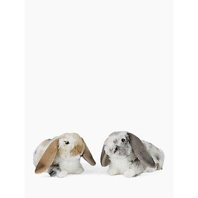 Living Nature Dutch Lop Ear Rabbits Plush Soft Toy