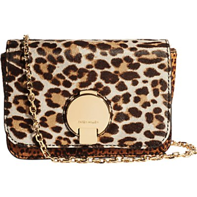 Karen Millen Leather Leopard Cross Body Bag  Multi - 5054236216433
