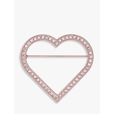 Ted Baker Swarovski Crystal Heart Brooch  Rose Gold - 5055336358252