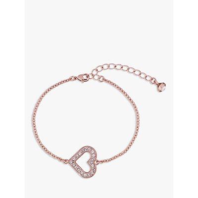 Ted Baker Swarovski Crystal Heart Bracelet  Rose Gold - 5055336358269