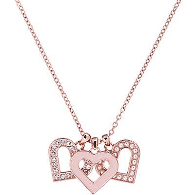 Ted Baker Swarovski Crystal Heart Cluster Pendant Necklace  Rose Gold - 5055336358306