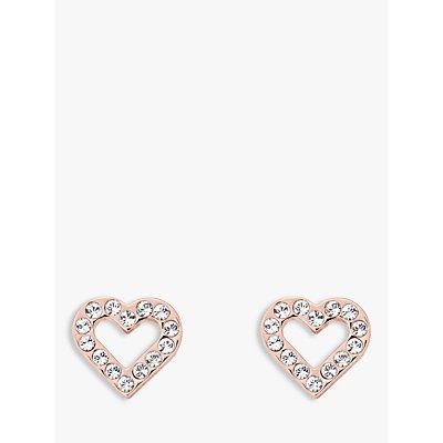 Ted Baker Swarovski Crystal Heart Stud Earrings  Rose Gold - 5055336358276