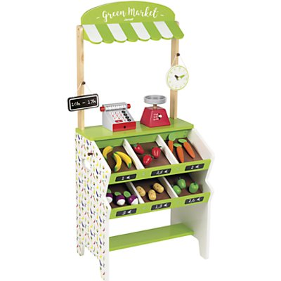 Janod Green Market Grocery Wooden Playset