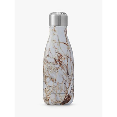 S'well Calacatta Gold Marble Vacuum Insulated Drinks Bottle, 260ml
