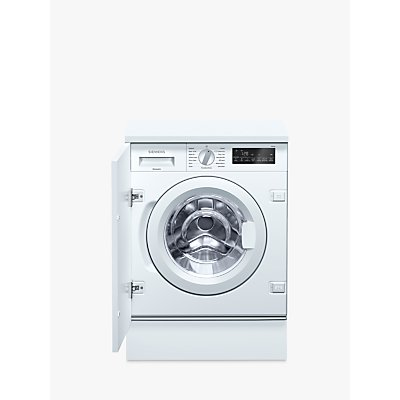 Siemens WI14W500GB Integrated Washing Machine, 8kg Load, A+++ Energy Rating, 1400rpm, White