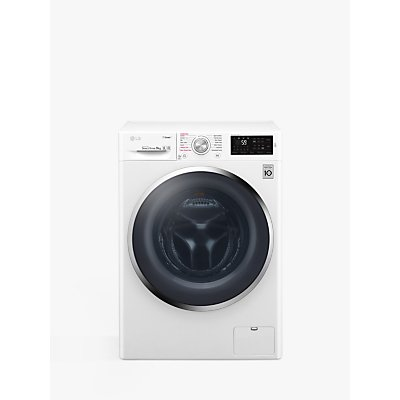 LG F4J6VY2W Freestanding Washing Machine, 9kg Load, A+++ Energy Rating, 1400rpm Spin, White