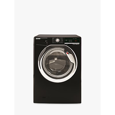Hoover DXOA610HC3B Freestanding Washing Machine, 10kg Load, A+++ Energy Rating, 1600rpm Spin, Black with Chrome Door