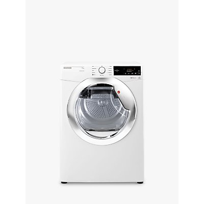 Hoover DXC9TCE Freestanding Condenser Tumble Dryer, 9kg Load, B Energy Rating, White