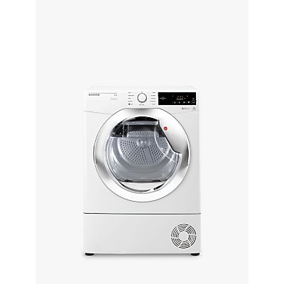 Hoover DXC8TCE Freestanding Condenser Tumble Dryer, 8kg Load, B Energy Rating, White