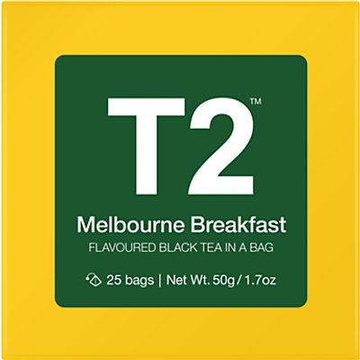 T2 Melbourne Breakfast Teabags  Pack of 25 - 9330462053223