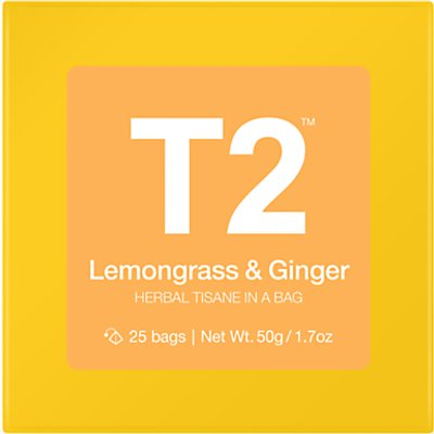 T2 Lemon   Ginger Teabags  Pack of 25 - 9330462053247