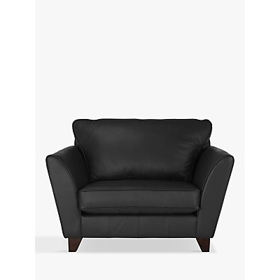 John Lewis & Partners Oslo Leather Snuggler, Dark Leg