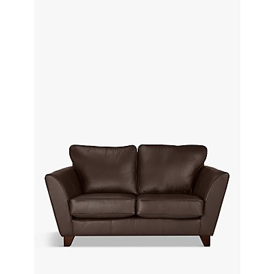John Lewis & Partners Oslo Leather Small 2 Seater Sofa, Dark Leg