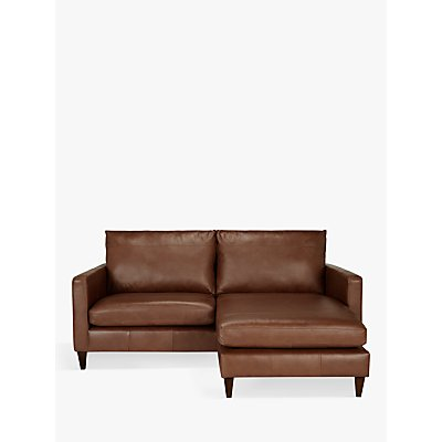 John Lewis & Partners Bailey Leather RHF Chaise End Sofa, Dark Leg