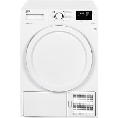 Beko DHY7340W Heat Pump Tumble Dryer, 7kg Load, A++ Energy Rating, White