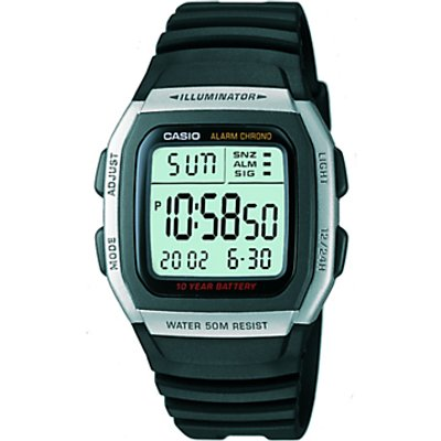 Casio W 96H 1AVES HB Unisex Core Resin Strap Watch  Black Green - 5023637518446