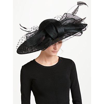 Nigel Rayment Ada Large Veil Down Brim Occasion Hat  Black - 24169677