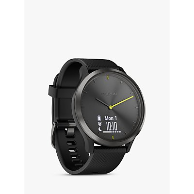 Garmin vivomove HR Sport Smartwatch, Large, Black