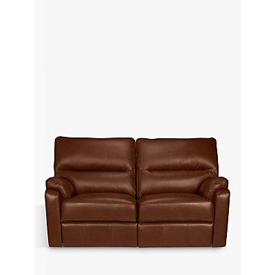 John Lewis Carlisle Small 2 Seater Power Recliner Leather Sofa