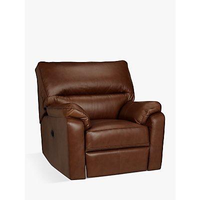 John Lewis & Partners Carlisle Leather Manual Recliner Armchair