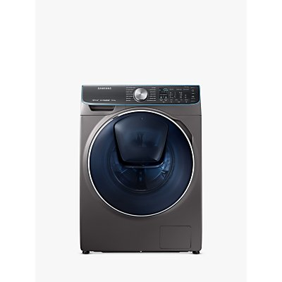 Samsung WW10M86DQOO/EU Freestanding QuickDrive Washing Machine, 10kg Load, A+++ Energy Rating, 1600rpm Spin, Graphite