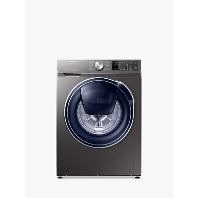 Samsung QuickDrive WW90M645OPO/EU Freestanding Washing Machine, 9kg Load, A+++ Energy Rating, 1400rpm Spin, Grey/Graphite