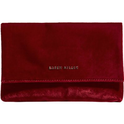 Karen Millen Velvet Brompton Bag  Red - 5054236235069