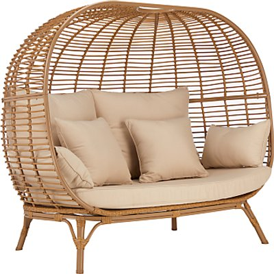 John Lewis & Partners Cabana 2 Seater Garden Sofa Pod, Natural