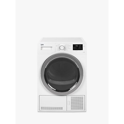 Beko DCB93166W Condenser Tumble Dryer, 9kg Load, B Energy Rating, White