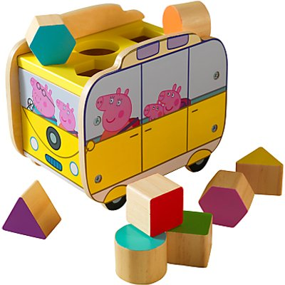 Peppa Pig Campervan Wooden Shape Sorter