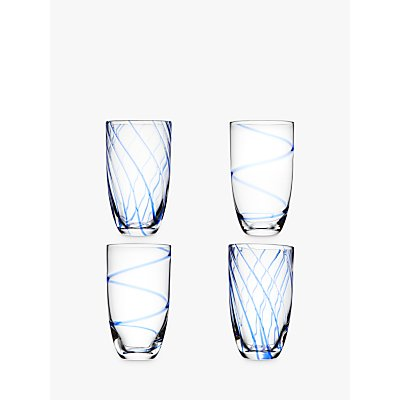 John Lewis   Partners Coastal Highball Glasses  Assorted  450ml  Set of 4 - 24305440