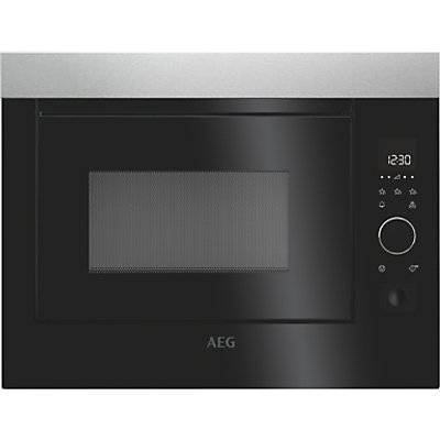 AEG MBE2658S M Solo Microwave Oven  Black Stainless Steel - 7332543497041