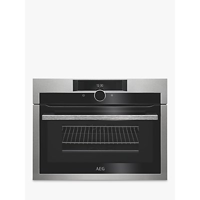 AEG KME861000M CombiQuick Compact Oven with Microwave, Stainless Steel