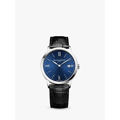 7613268817605 | Baume et Mercier M0A10324 Men s Classima Leather Strap Watch  Black Blue
