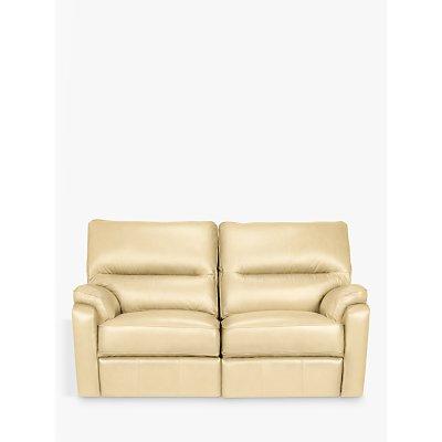 John Lewis Carlisle Leather Manual Recliner Small 2 Seater Sofa