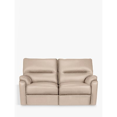 John Lewis & Partners Carlisle Leather Manual Recliner Small 2 Seater Sofa