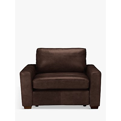 House by John Lewis Oliver Leather Snuggler, Dark Leg