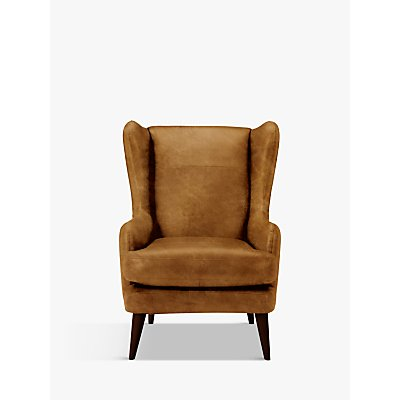 John Lewis Bergen Leather Armchair, Dark Leg