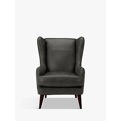 John Lewis & Partners Bergen Leather Armchair, Dark Leg