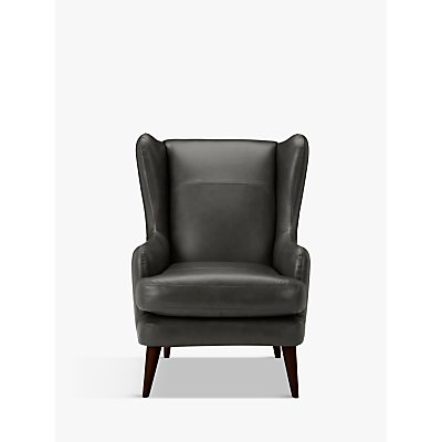 John Lewis & Partners Bergen Leather Armchair, Dark Leg