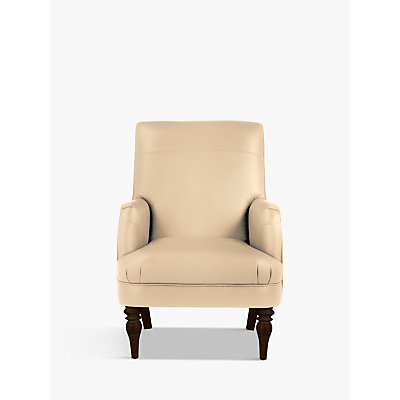 John Lewis & Partners Sterling Leather Armchair, Dark Leg