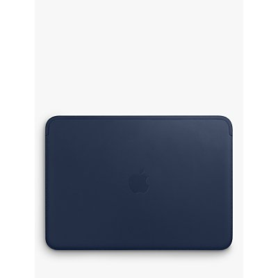 "Apple Leather Sleeve for 12"" MacBook, Midnight Blue"