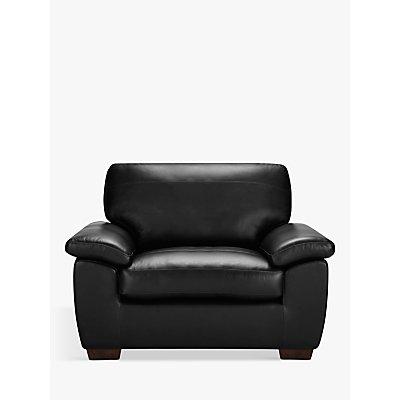 John Lewis & Partners Camden Leather Snuggler, Dark Leg