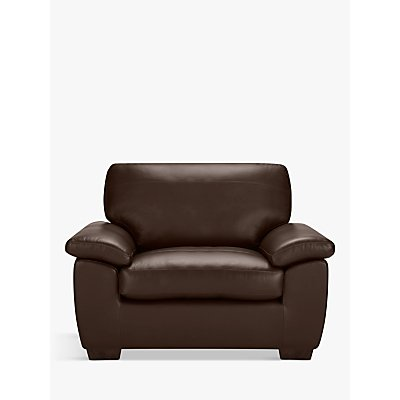 John Lewis & Partners Camden Leather Snuggler, Dark Leg