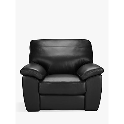 John Lewis & Partners Camden Manual Reclining Leather Armchair, Dark Leg
